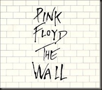 Pink Floyd - The Wall - Album Cover showing a White Brick wall, with the title written in graffiti